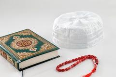 Os tampões do crânio são vestidos geralmente por homens muçulmanos, às vezes como um tampão simples e frequentemente como um sob-t Fotos de Stock
