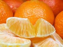 Os Tangerines fecham-se acima Foto de Stock Royalty Free