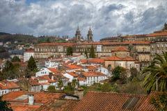 Os telhados alaranjados do Santiago Fotografia de Stock