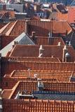 Os telhados da cidade fotos de stock royalty free