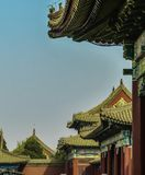 Os telhados da Cidade Proibida em um dia ensolarado brilhante Pequim, China, Ásia fotos de stock royalty free