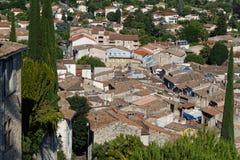 Os telhados telhados da crista da torre fotografia de stock royalty free