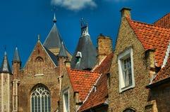 Os telhados de Bruges Foto de Stock Royalty Free