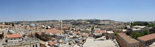 Os telhados de Jerusalem antigo fotografia de stock royalty free