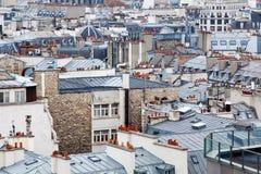 Os telhados de Paris imagens de stock