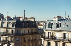 Os telhados de Paris fotografia de stock royalty free
