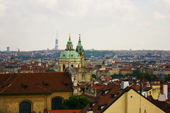 Os telhados de Praga Fotos de Stock Royalty Free
