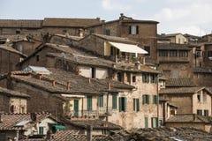 Os telhados de Siena Fotografia de Stock