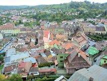 Os telhados de Sighisoara Imagem de Stock