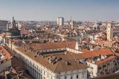 Os telhados de Turin, Itália Fotografia de Stock