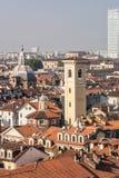 Os telhados de Turin, Itália Fotos de Stock Royalty Free