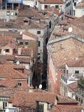 Os telhados de Veneza Fotografia de Stock