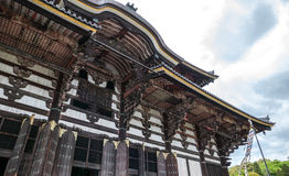 Os telhados do templo de Todai-ji fotografia de stock royalty free
