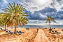 Os teresitas de Las encalham, Tenerife, Ilhas Canárias, Espanha imagem de stock royalty free