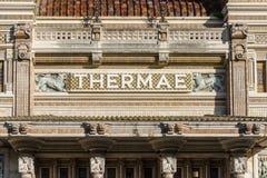 Os termas em Salsomaggiore Terme fotografia de stock royalty free