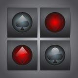 Os ternos de cristal do cartão do ícone da obscuridade Imagens de Stock