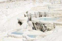 Os terraços de Pamukkale Fotos de Stock Royalty Free