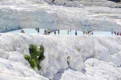 Os terraços de Pamukkale Imagem de Stock