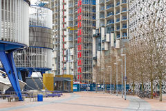 Os terrenos de construção da península de Greenwich, um residencial novo tornam-se Imagem de Stock
