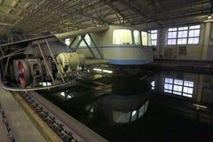 Os testes do modelo do navio no gelo testam a bacia fotografia de stock