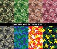 Os testes padrões da camuflagem ajustaram 2 - camuflagem do respingo Foto de Stock