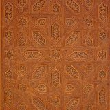 Os testes padrões decorativos cinzelaram na madeira, detalhe de palácio de Nasrid, Alhambra, Imagem de Stock