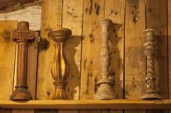 Os testes padrões do castiçal são colocados em seguido Imagem de Stock Royalty Free