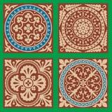 Os testes padrões do Victorian ajustaram um Fotografia de Stock Royalty Free