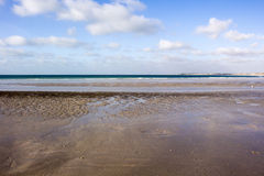Os testes padrões intrincados da areia no cabo encalham, Broome, Austrália Ocidental Fotografia de Stock