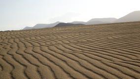 Os testes padrões na areia, estacionam natural, Corralejo, Fuerteventura, Ca Imagem de Stock Royalty Free