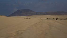 Os testes padrões na areia, estacionam natural, Corralejo, Fuerteventura, Ca Fotografia de Stock Royalty Free