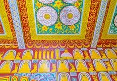 Os testes padrões no templo budista Fotografia de Stock