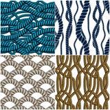 Os testes padrões sem emenda da corda ajustaram-se, fundos na moda do papel de parede do vetor ilustração stock