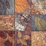 Os testes padrões velhos dos azulejos da parede handcraft do público de Tailândia Fotografia de Stock Royalty Free