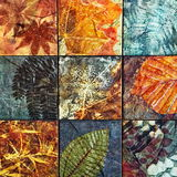 Os testes padrões velhos dos azulejos da parede handcraft dos parques de Tailândia públicos Fotos de Stock