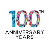 os 100th anos do aniversário abstraem o colo completo moderno do triângulo Ilustração Royalty Free