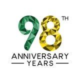 os 98th anos do aniversário abstraem o colo completo moderno do triângulo Ilustração Stock