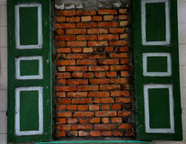Os tijolos prometidos janela Imagens de Stock Royalty Free