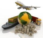 Os tipos de transporte do transporte são cargas Fotografia de Stock Royalty Free