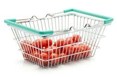 Os tomates de cereja Bobulienka isolaram-se foto de stock