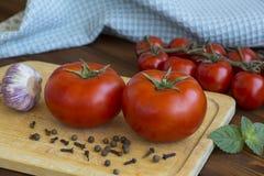 Os tomates de Deux bien o mÔ res Fotos de Stock Royalty Free