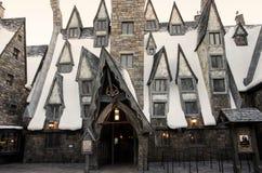 Os três cabos de vassoura em Harry Potter World, Orlando Imagem de Stock Royalty Free