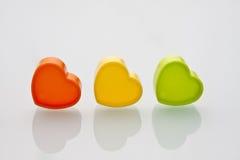 Os três corações Fotos de Stock