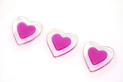 Os três corações Foto de Stock Royalty Free