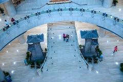Os três - desfiladeiro Salão histórico em Chongqing Three Gorges Museum foto de stock