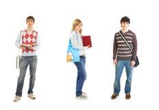 Os três estudantes imagem de stock royalty free