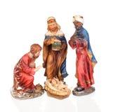 Os três homens sábios e bebês Jesus Foto de Stock Royalty Free