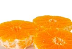 Os três meios mandarino sem casca Foto de Stock Royalty Free