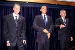 Os três presidentes americanos fotografia de stock