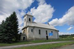 Os três reis Igreja em Ostruzna, República Checa Fotos de Stock